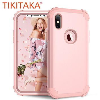Shockproof Case for Samsung Galaxy S8 Plus Note 8 Cover Hybrid 360 Full Protect Phone Cases For iPhone X 7 6 6S Plus Phone Shell