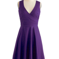 Beguiling Beauty Dress in Purple