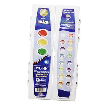 PRANG OVAL 16 WATER COLORS