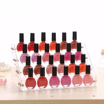 4 Layers Nail Polish Acrylic Display Stand