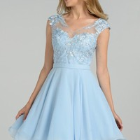 Cap sleeve homecoming dress #poly8094