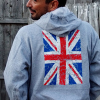 Union Jack Police Box Front Hoodie. Customize Size And Color.
