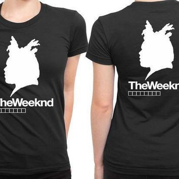 The Weeknd Siluet Three 2 Sided Womens T Shirt