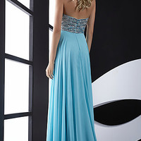 Long Strapless Jasz Prom Dress