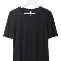 Raw Edge Tee by Boutique - Black