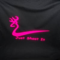 Custom Made Deer Just Shoot It BLACK T-Shirt Same Day Fast Shipping