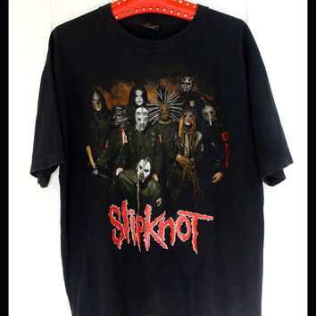 slipknot metal heavy metal music band tee tshirt t shirt t-shirt xl
