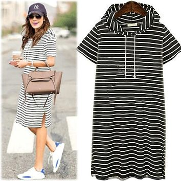 Summer New Arrival Women T-Shirt Dresses Europe and American Style Elegance Sailor Collar Short Sleeve Clothing Hot D86216L