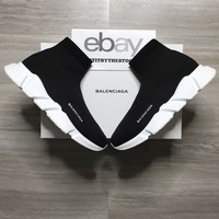 BALENCIAGA SPEED TRAINER BLACK WHITE OG VETEMENTS
