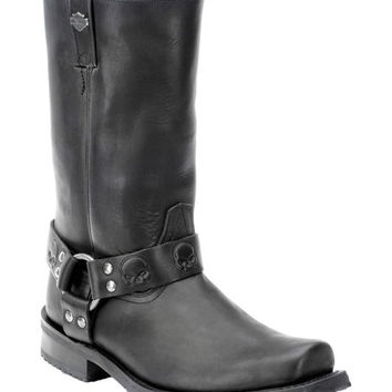 Harley-Davidson Footwear Black Rory Leather Motorcycle Boot - Men | zulily
