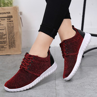2016 new Women running shoes super light sport sneakers Athletic canvas Breathable walking boots flat jogging outdoor Zapatillas