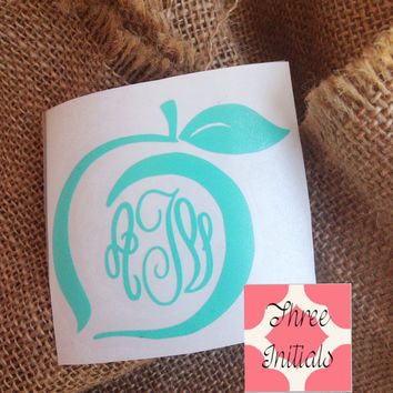 Georgia peach decal sticker State decal State Sticker Car Decal Monogram Decal Monogram Vinyl Decal Monogram Gift Monogram sticker