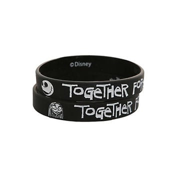 The Nightmare Before Christmas Together Forever Bracelet 2 Pack | Hot Topic