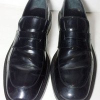 GUCCI Black Leather Loafers Men's Shoes Size 9.5 US Size 42