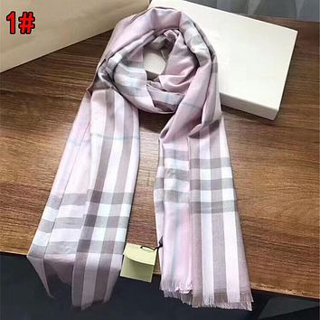 Burberry Popular Classic Plaid Comfortable Cashmere Cape Scarf Scarves Shawl Accessories