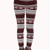 Festive Fair Isle Sweater Leggings