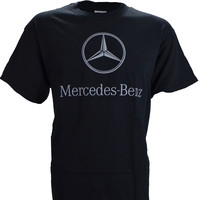 Mercedes Benz Logo on a Black T Shirt
