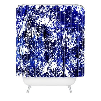 Garima Dhawan Autumn Indigo Shower Curtain