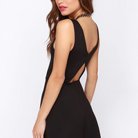 From Here to Flare Black Skater Dress