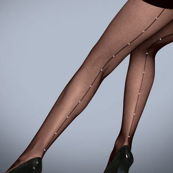 Silky Diamante Seam Fishnet Tights| The Tight Spot