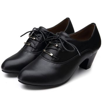 Women Leather High heel Shoes for Women Spring/Autumn Office Lady  High-heeled Shoes Women Pumps