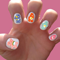 Care Bear // Carebear Nail Decals Transfer Nail Stickers