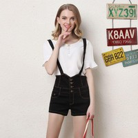 Thin Strap Women's Overall shorts