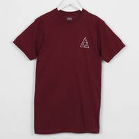 HUF Triple Triangle Tee-Shirt, Burgundy