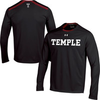 Temple Owls Under Armour 2014 Sideline Win It Performance Long Sleeve Top – Black