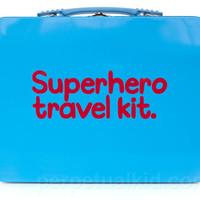 SUPERHERO TRAVEL KIT LUNCH BOX