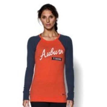 Under Armour Women's Auburn UA Tri-Blend Long Sleeve Crew