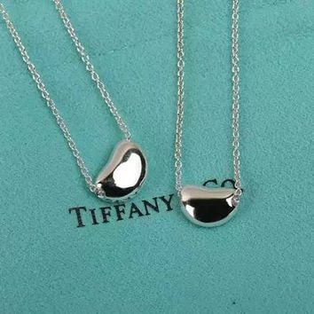 Tiffany fashion classic sterling silver small beans necklace high quality