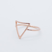 Open triangle ring