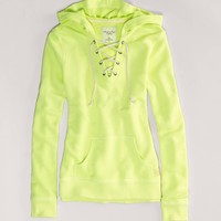 AE Lace-Up Hoodie | American Eagle Outfitters