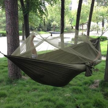 Portable High Strength Parachute Hammock With Mosquito Net