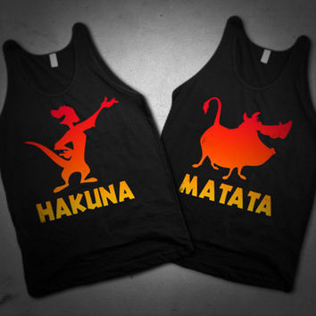 Hakuna Matata BFF Best Friends Summer Tanks