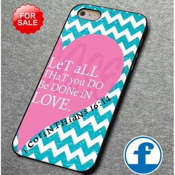 Pink Heart Chevron Bible 1 Corinthians for iphone, ipod, samsung galaxy, HTC and Nexus Phone Case