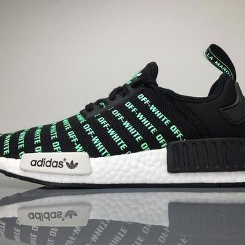 LMFYN6 OFF White x Adidas NMD Boost Light Up Men Sneaker BA6520
