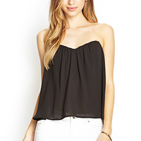 Strapless Cutout Top