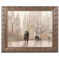 'An Evening Out Neutral' by Julia Purinton Framed Painting Print