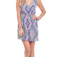 Tribal Vibes Printed Surplice Dress
