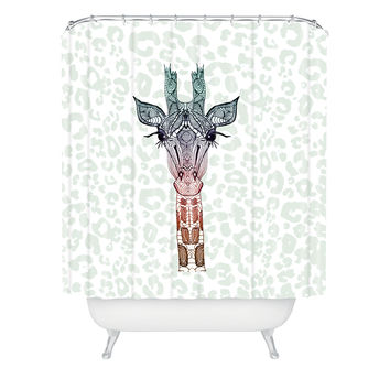Monika Strigel Giraffe Meets Leopard Shower Curtain