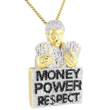 Men's Scarface Money Respect Custom Iced Out Pendant Chain