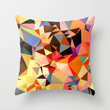 Decorative Pillow Covers, Orange Pillow Cover in Geometric Print