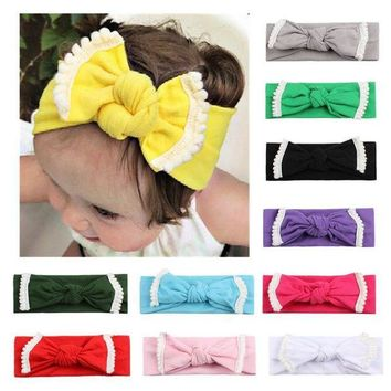 MDIGON Lovely Newborn  Headband Bunny Ear Elastic Headbands DIY Bowknot Headwear Hair Accessories  H9