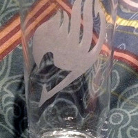 Fairy Tail logo drinking Glass