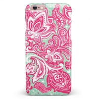 Red and Green Floral Ethnic iPhone 6/6s or 6/6s Plus INK-Fuzed Case