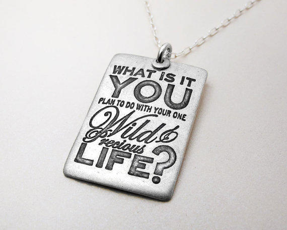 Inspirational quote necklace Graduation What by lulubugjewelry