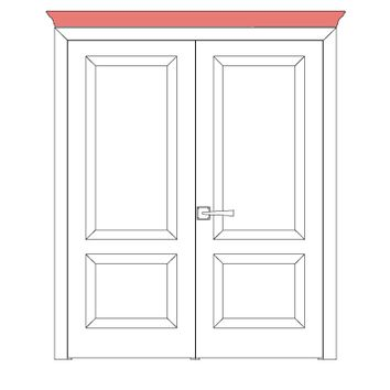 Sarto  Royal Cornice Interior Double Doors