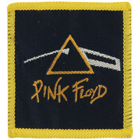 Pink Floyd Men's Prism White Woven Patch Yellow